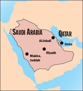 qatar_and_saudi_arabia_map