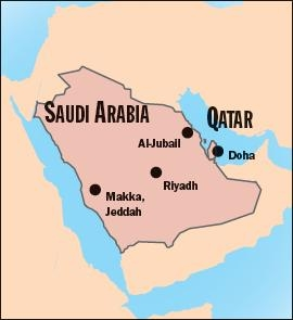 qatar_and_saudi_arabia_map